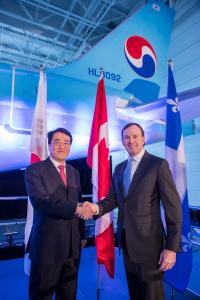 ニュース画像:大韓航空、アジア初のCS300を受領 フェリーフライトは新千歳経由か