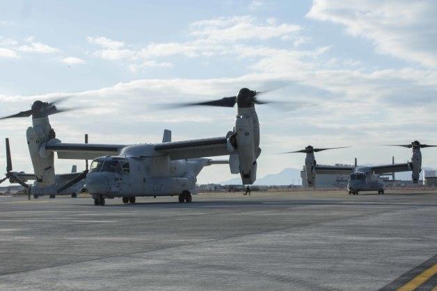 ニュース画像 1枚目:岩国基地のMV-22B