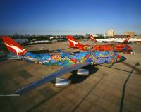 ニュース画像 1枚目:カンタス航空のアボリジニ・デザイン