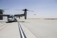 ニュース画像:木更津駐屯地で実施中のMV-22定期機体整備、塗装塗り直しに着手