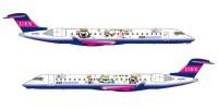 ニュース画像:アイベックスエアラインズ、新デザインの 「むすび丸ジェット」就航