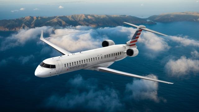 ニュース画像 1枚目:アメリカン航空塗装のCRJ-900