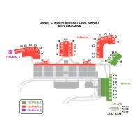 ニュース画像 1枚目:ダニエル・K・イノウエ国際空港の搭乗ゲート番号
