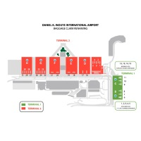 ニュース画像 2枚目:ダニエル・K・イノウエ国際空港の手荷物受取場