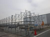 ニュース画像 1枚目:格納庫の建設状況、5月28日
