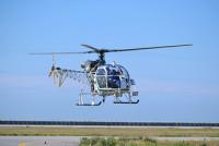 ニュース画像:退役控えるアカギヘリコプターのSA315B、エアバス神戸事業所に飛来