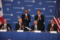 ニュース画像:コパ航空、737 MAXを61機発注 オバマ、バレーラ両大統領も同席