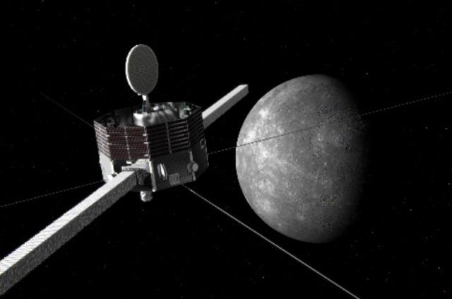 ニュース画像 1枚目:「みお」と水星の想像図