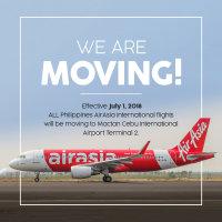 ニュース画像:エアアジア、7月からセブ国際空港で国際線を新ターミナル2へ移動