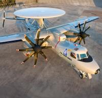 ニュース画像 1枚目:E-2D、画像はアメリカ海軍機