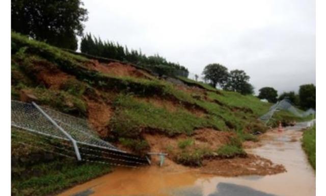 ニュース画像 1枚目:高良台分屯基地の被災状況