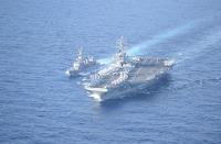 ニュース画像:きりさめとロナルド・レーガンなど、日米共同巡航訓練を実施