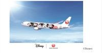 ニュース画像:JAL、ミッキーマウスのスクリーンデビュー90周年で特別塗装機
