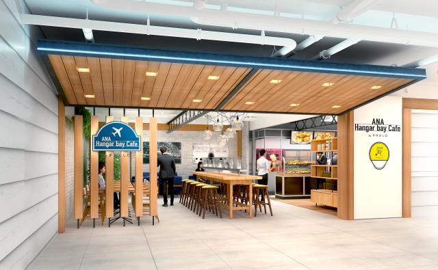 ニュース画像 1枚目:ANA Hangar bay Cafe by PABLO 外観イメージ