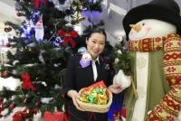 ニュース画像 1枚目:機内クリスマスイベント