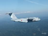ニュース画像:美保基地のC-2、平成31年降下訓練始めに参加