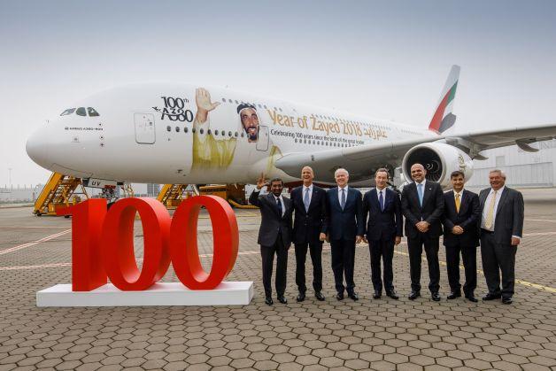 ニュース画像 1枚目:エミレーツ航空、2018年1月に100機目のA380を受領