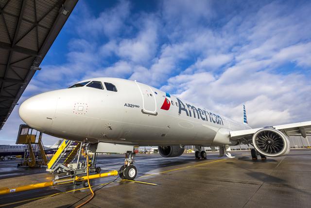 ニュース画像 1枚目:アメリカン航空 A321neo初号機