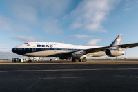 ニュース画像:BOAC塗装の747-400、ヒースロー空港に登場 定期便投入へ