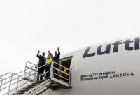 ニュース画像:こんにちは日本、ルフトハンザ・カーゴが新塗装777Fを導入