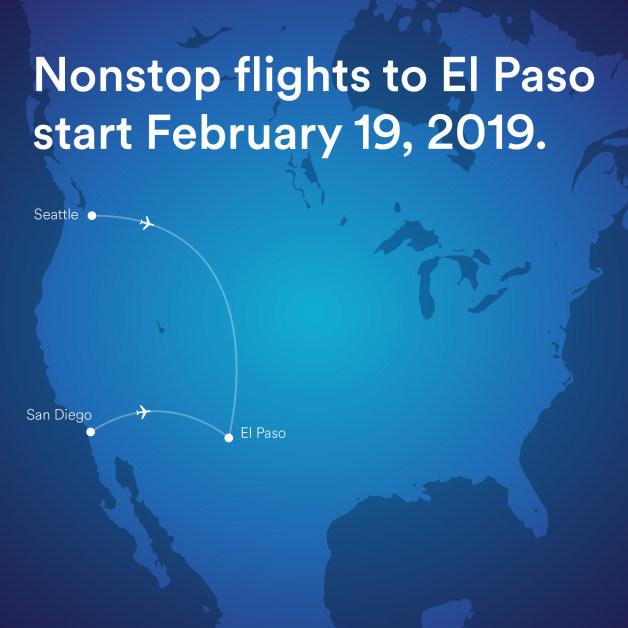 ニュース画像 1枚目:シアトル・サンディエゴ発着のエルパソ線