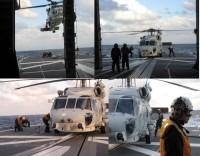 ニュース画像:護衛艦「すずなみ」、太平洋上で搭載ヘリや空自救難ヘリの発着艦訓練