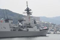 ニュース画像:護衛艦「しらぬい」、引渡式と自衛艦旗授与式を経て出港