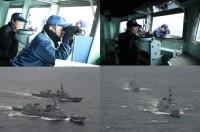 ニュース画像:護衛艦「きりさめ」と「すずつき」、占位運動や発着艦訓練などを実施