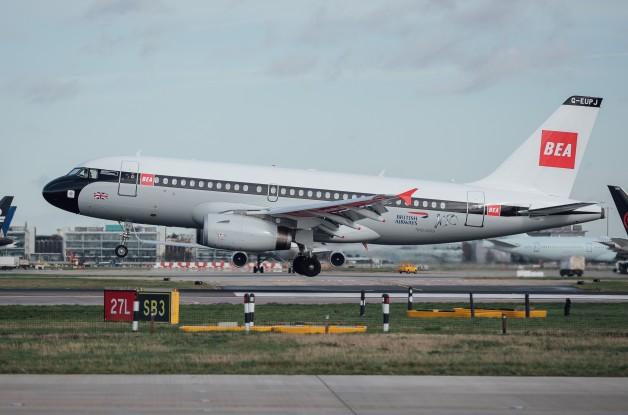 ニュース画像:ブリティッシュ・エアウェイズ、BEA塗装のA319が登場