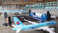 ニュース画像:大韓航空、創立50周年記念式典 過去の制服着用フライトも計画