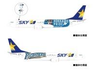 ニュース画像:スカイマーク、3月19日から特別塗装機「ファイターズジェット」を運航