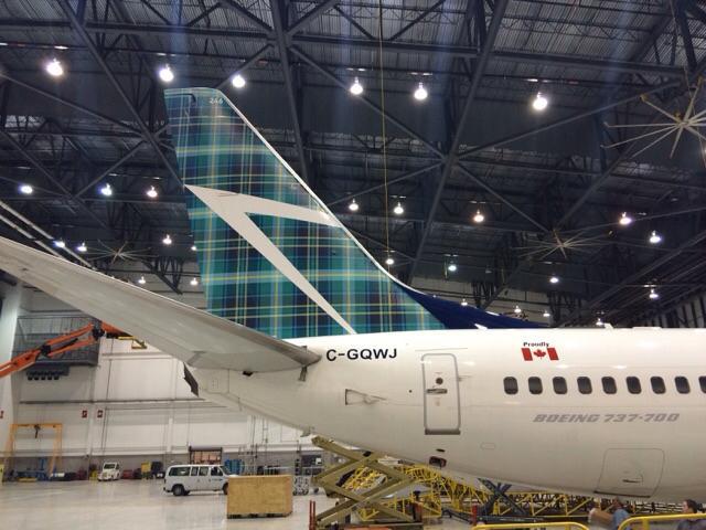 ウェストジェット、スコットランド就航で尾翼をタータンチェック柄に塗装 | FlyTeam ニュース