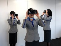 ニュース画像:ANA、客室乗務員向け機内訓練にCGを用いたVRを本格導入