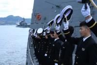 ニュース画像:護衛艦「すずつき」、外洋練習航海に向け江田島を出港