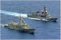 ニュース画像:護衛艦「さみだれ」、スペイン海軍と海賊対処共同訓練を実施