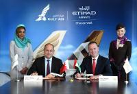 ニュース画像:ガルフ・エアとエティハド航空、夏スケジュールでコードシェア提携開始