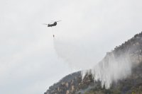 ニュース画像:広島県呉市での山林火災、陸自ヘリコプターが災害派遣で対応