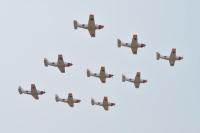 ニュース画像:小月航空基地で第71期航空学生入隊式、ホワイトアローズが祝賀飛行