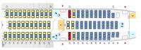 ニュース画像 1枚目:787-8、240席仕様の座席指定 赤と黄が有料化