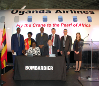 ニュース画像:ボンバルディア、ウガンダ・エアラインズに初のCRJ-900を納入