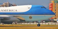 ニュース画像 2枚目:横田基地へ飛来した際のVC-25