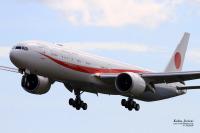 ニュース画像:777政府専用機、初任務から帰国 まもなく羽田到着