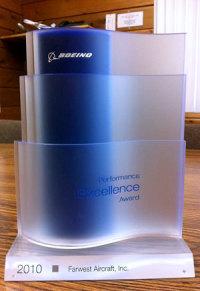 ニュース画像 1枚目:過去に受賞したBoeing Performance Excellence Award