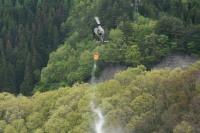 ニュース画像:山形県米沢市大字三沢での山林火災、神町の第6飛行隊などが災害対応