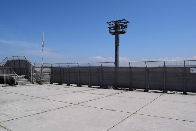 ニュース画像 1枚目:米子空港、増改築工事時の展望デッキ眺望
