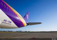 ニュース画像 1枚目:タイ国際航空 A350 機体後部