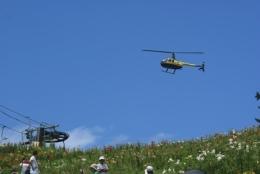 ニュース画像 1枚目:箱館山遊覧飛行の様子
