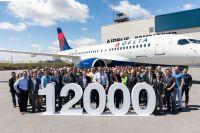 ニュース画像:エアバス、デルタ航空に12,000機目の製造機を納入 節目はA220