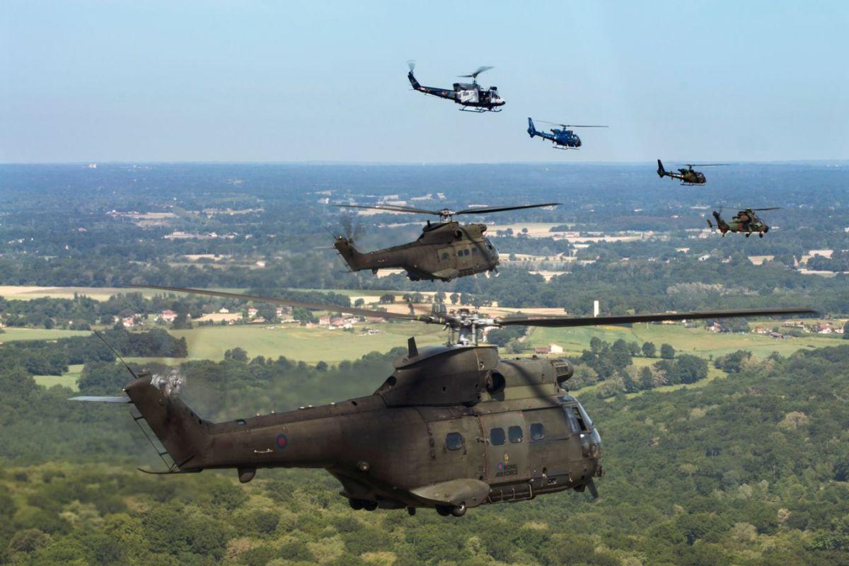 ニュース画像 1枚目:タイガーミート参加部隊による編隊飛行