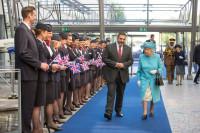 ニュース画像:ブリティッシュ・エア、同社100周年でエリザベス女王が本社を訪問